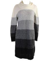 Calvin Klein - New Multi Striped Ombre Sweater Dress Xl - Lyst