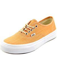 422a24b7c72180 Lyst - Vans Authentic Slim Suede Floral Low-top Women s Sneaker