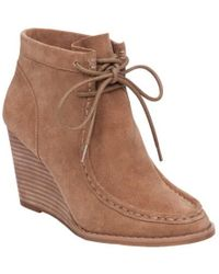 2f5ae6b5712a Lyst - Lucky Brand  yakeena  Zip Wedge Bootie (women) in Blue