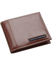 Tommy Hilfiger - Leather Cambridge Passcase Wallet With Removable Card Holder - Lyst