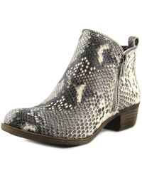 Lucky Brand - Bartalino Women Round Toe Synthetic Nude Ankle Boot - Lyst