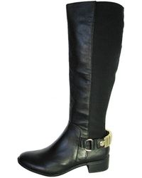 a50b7e313af Lyst - Steve Madden Tempting Peep-toe Ankle Boots in Black
