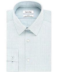 CALVIN KLEIN 205W39NYC - Steel Slim-fit Non-iron Performance Multi Check Dress Shirt - Lyst