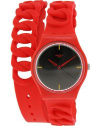 Swatch - Originals Gr164 Black Silicone Swiss Quartz Fashion Watch - Lyst