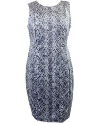 CALVIN KLEIN 205W39NYC - Petites Snake Print Faux Suede Wear To Work Dress - Lyst