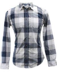 Calvin Klein - Buffalo Check Cotton Long Sleeve Button Up Shirt - Lyst
