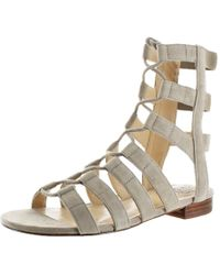 6efc35776fc6 Vince Camuto - Helayn Suede Open Toe Ghillie Caged Sandals Shoes - Lyst