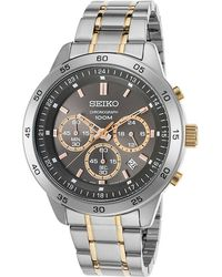 Seiko - Watches Mens Neo Sport Chronograph Two-tone Stainless Steel Watch - Lyst