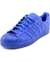 reputable site 16938 73fcd adidas - Superstar Adicolor Men Us 12 Blue Sneakers - Lyst