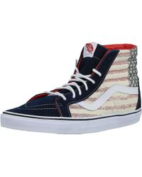 31abf97a7d Vans - Sk8-hi Reissue Americana Dress Blues Ankle-high Canvas Fashion  Sneaker -