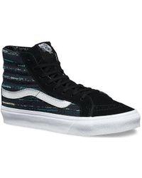 2af73dbefc Lyst - Vans Sk8-hi Slim Cutout Mesh Ankle-high Leather Skateboarding ...
