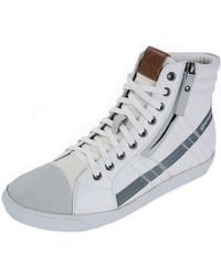 Alpine Swiss - Reto Mens High Top Sneakers Lace Up & Zip Ankle Boots Fashion Shoes - Lyst