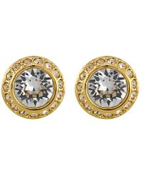 Swarovski Angelic Gold Plated Pierced Earrings 1081941 Lyst