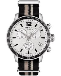 Tissot - Quickster Nato Chrono T095.417.17.037.10 Silver Nylon Analog Quartz Watch - Lyst