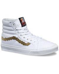 493402aa25 Lyst - Vans Unisex Authentic Slim Geometric Sneakers Dazzlngblwht M3 ...