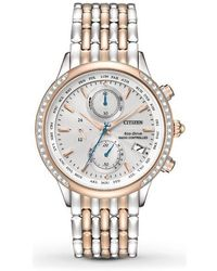 b3aa7c74d30 Citizen - Eco-drive World Chronograph A-t Atomic Ladies Watch Fc5006-55a -  Lyst