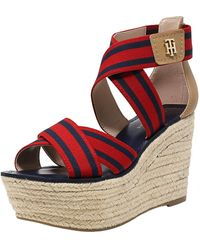 Tommy Hilfiger - Theia Wedged Sandal - 10m - Lyst
