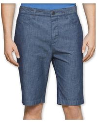 Calvin Klein - Mens Chambray Casual Walking Shorts Bluechambray 36 - Lyst
