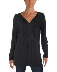 Tommy Hilfiger - Pintuck Long Sleeves Casual Top - Lyst