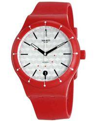 Swatch | Original Silver Dial Ladies Watch Sutr403 | Lyst