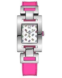 Tommy Hilfiger - Sq. Graphic Dial Ss Silicone Quartz Ladies Watch 1781068 - Lyst