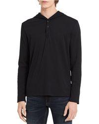 Calvin Klein - Henley Hoodie Sweatshirt - Lyst