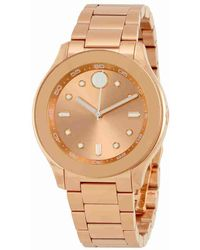 Movado | Bold Rose Dial Ladies Watch 3600417 | Lyst