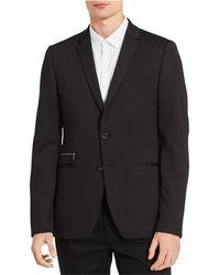 Calvin Klein - Notched Lapel Two Button Blazer Jacket - Lyst