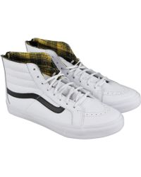 a7e95ac279 Vans - Sk8 Hi Slim Zip True Black High Top Sneakers - Lyst