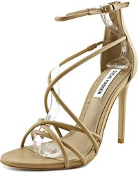 54a67bacb9a Lyst - Steve Madden Immence Women Round Toe Synthetic Silver Heels ...
