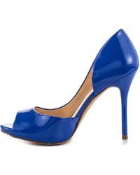 0b72f3574 Lyst - Public Desire Ela Stiletto Heels In Cobalt Blue Faux Suede