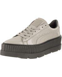 015b5da777ffb0 PUMA - Fenty Pointy Creeper Patent Dave glacier gray Casual Shoe 7.5 Women  Us