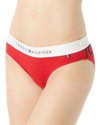 Tommy Hilfiger - R14t033 Cotton Lounge Bikini Panty (tango Red Placement L) - Lyst