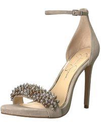 Jessica Simpson - Rusley Heeled Sandal Warm Stone - Lyst