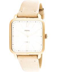 Fossil   Micah Es4254 Rose-gold Leather Japanese Quartz Fashion Watch   Lyst