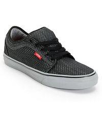 Vans - Chukka Low Micro Check Sneakers Black 6.5 - Lyst