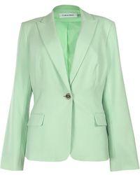 Calvin Klein - Classic Peaked Blazer Jacket (12p - Lyst
