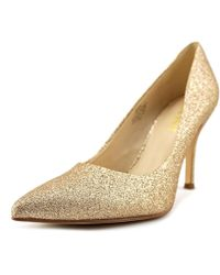 Nine West - Flax Women Us 10 Gold Heels - Lyst