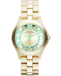 Marc Jacobs - Marc By Henry Skeleton Mbm3295 Gold Analog Quartz Watch - Lyst