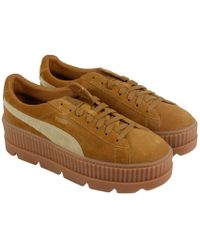 c440d4013ed PUMA - Fenty Cleated Creeper Suede Casual Athletic   Sneakers - Lyst
