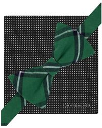 Tommy Hilfiger - Mens Sml Dot Wndw Plaid & Pkt Sq Neck Tie Set Grnblk Short - Lyst