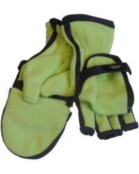 Calvin Klein - Green Fleece Flip Top Gloves Convertible Fingerless Mittens L - Lyst