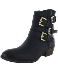 Steve Madden - Chriissy Leather Ankle Boot - Lyst