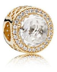 Pandora | Radiant Hearts In 14k Gold With Clear Cubic Zirconia Charm | Lyst