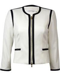 Calvin Klein - Zip Front Faux Pocket Blazer (8p - Lyst