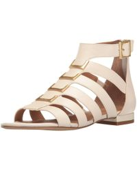 Calvin Klein - Estes Cow Silk Leather Open Toe Casual Gladiator Sandals - Lyst