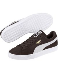Lyst - Puma Basket Classic Leather Sneakers in White for Men 7899562f9