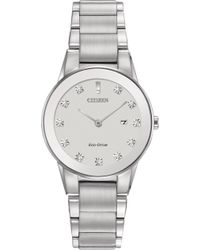 Citizen - Women's Eco-drive Axiom Diamond Accent Stainless Steel Bracelet Watch 30mm Ga1050-51b - Lyst