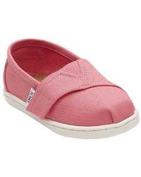 1c262e46c6c TOMS - Girl s Classic Canvas Bubblegum Pink Ankle-high Fashion Sneaker - 9m  - Lyst