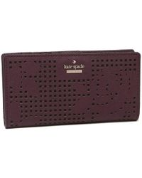 5fb7f87285712 Kate Spade - Cameron Street Perforated Stacy Wallet - Lyst